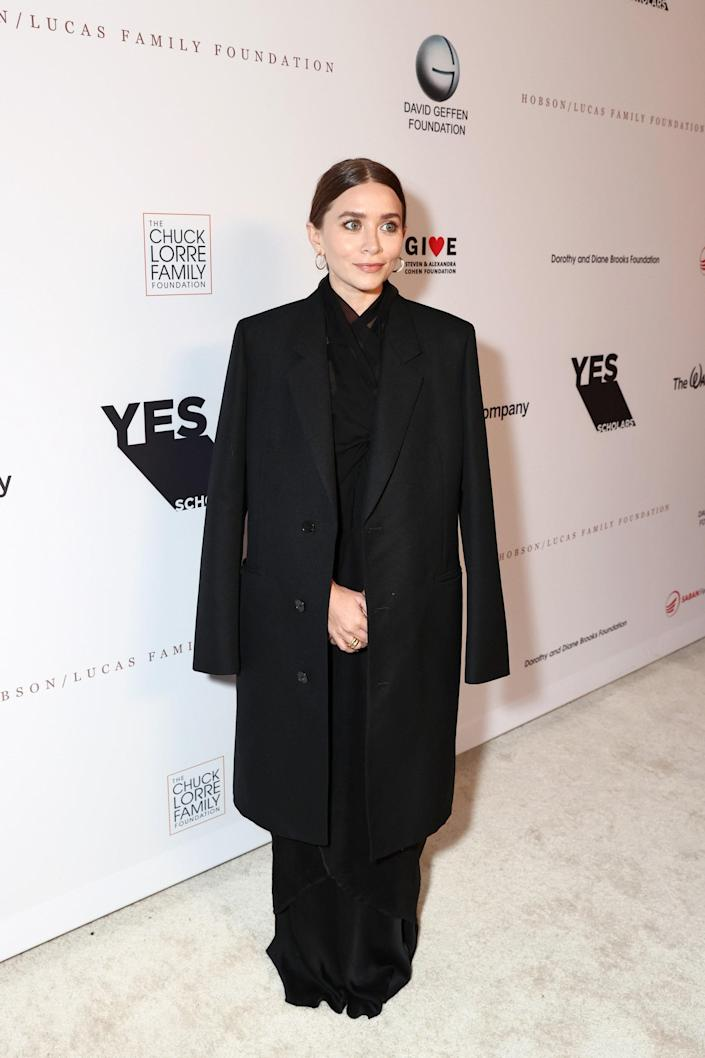 <p>WHO: Ashley Olsen</p> <p>WHAT: The Row</p> <p>WHERE: YES 20th Anniversary Gala</p> <p>WHEN: September 23</p>