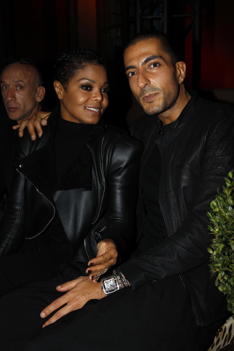 Janet Jackson and Wissam Al Mana attend the Roberto Cavalli 40th anniversary party in Paris on Sept. 29, 2010. (Photo: Michel Dufour/WireImage)