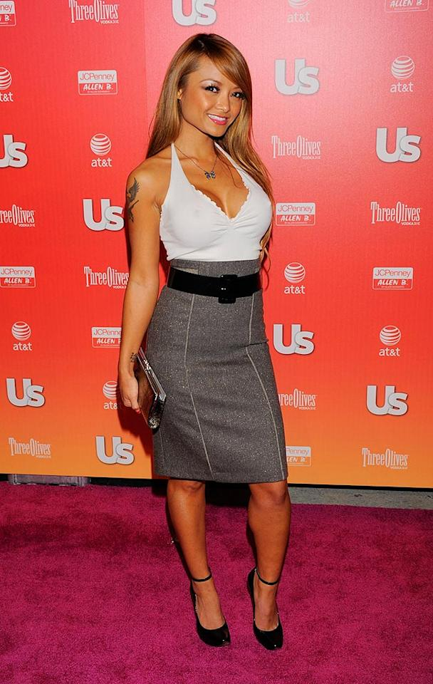 """Tila Tequila sexed up her sparkling pencil skirt with a revealing halter top. Todd Williamson/<a href=""""http://www.wireimage.com"""" target=""""new"""">WireImage.com</a> - April 22, 2009"""