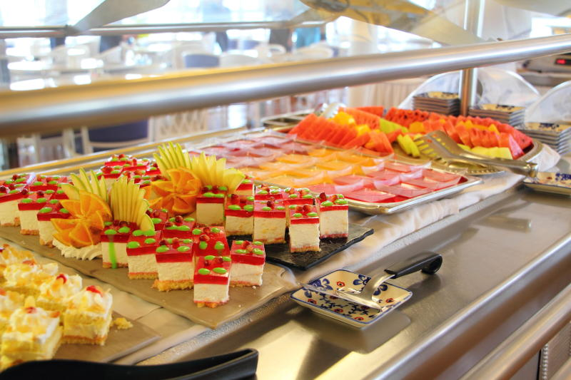 sweet food on a cruise ship
