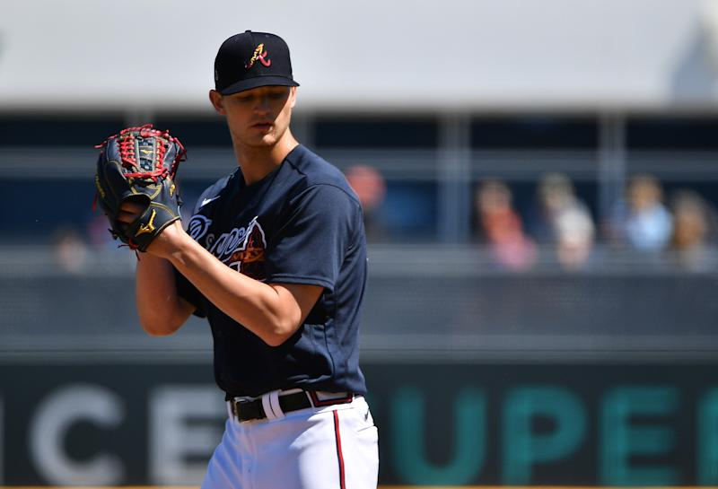 Mike Soroka #40 of the Atlanta Braves