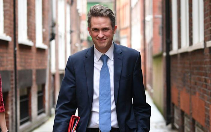 Gavin Williamson is giving evidence to the education committee - PA