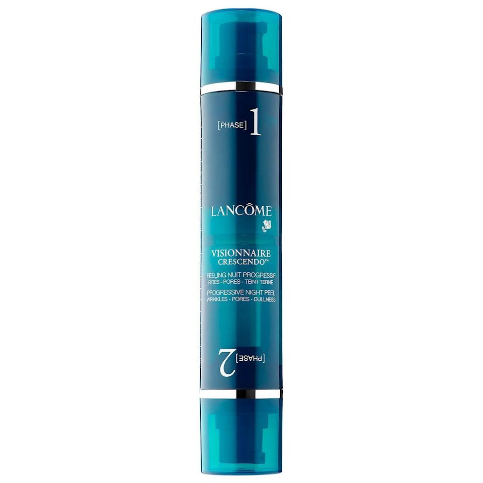 """<p><strong>LANCOME Visionnaire Crescendo Progressive Night Peel</strong></p><p>sephora.com</p><p><strong>$75.00</strong></p><p><a href=""""https://go.redirectingat.com?id=74968X1596630&url=https%3A%2F%2Fwww.sephora.com%2Fproduct%2Fvisionnaire-crescendo-progressive-night-peel-P418616&sref=https%3A%2F%2Fwww.harpersbazaar.com%2Fbeauty%2Fskin-care%2Fg19738338%2Fbest-skin-care-brands%2F"""" rel=""""nofollow noopener"""" target=""""_blank"""" data-ylk=""""slk:Shop Now"""" class=""""link rapid-noclick-resp"""">Shop Now</a></p><p>Though Lancôme's messaging suggests an effortless approach to Parisian beauty, we all know that looking naturally ageless takes some serious commitment to a skincare routine. Though their anti-aging serums are some of the best-selling in the world, we also love this two-phase nightly peel that helps skin get desensitized to the otherwise irritating exfoliators. </p>"""