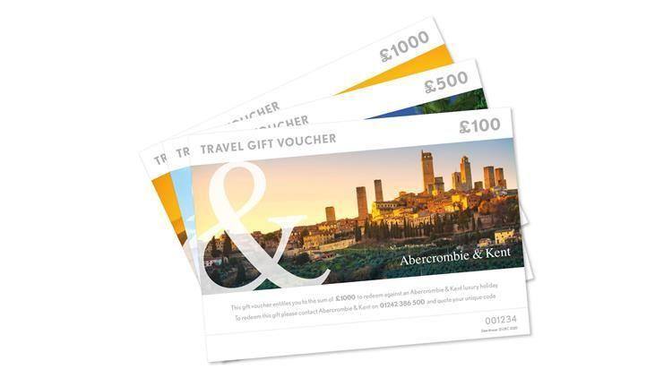 """<p>With vaccination numbers up, green lists announced and Covid cases steadily declining across the country, the prospect of travelling far, far away is slowly becoming more of a possibility. Inspire future travels with a set of gift vouchers from the luxury tour operator Abercrombie & Kent. Vouchers start from £50 all the way up to £1,000 and can be used towards trips, experiences and tailor-made itineraries the world over.</p><p>From £50, <a href=""""https://www.abercrombiekent.co.uk/campaign/2020/giftvouchers"""" rel=""""nofollow noopener"""" target=""""_blank"""" data-ylk=""""slk:Abercrombie & Kent"""" class=""""link rapid-noclick-resp"""">Abercrombie & Kent</a>. </p>"""