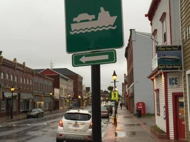 Three levels of government are contributing to the overhaul of the ferry terminal in Yarmouth, N.S.  (Angela MacIvor - image credit)