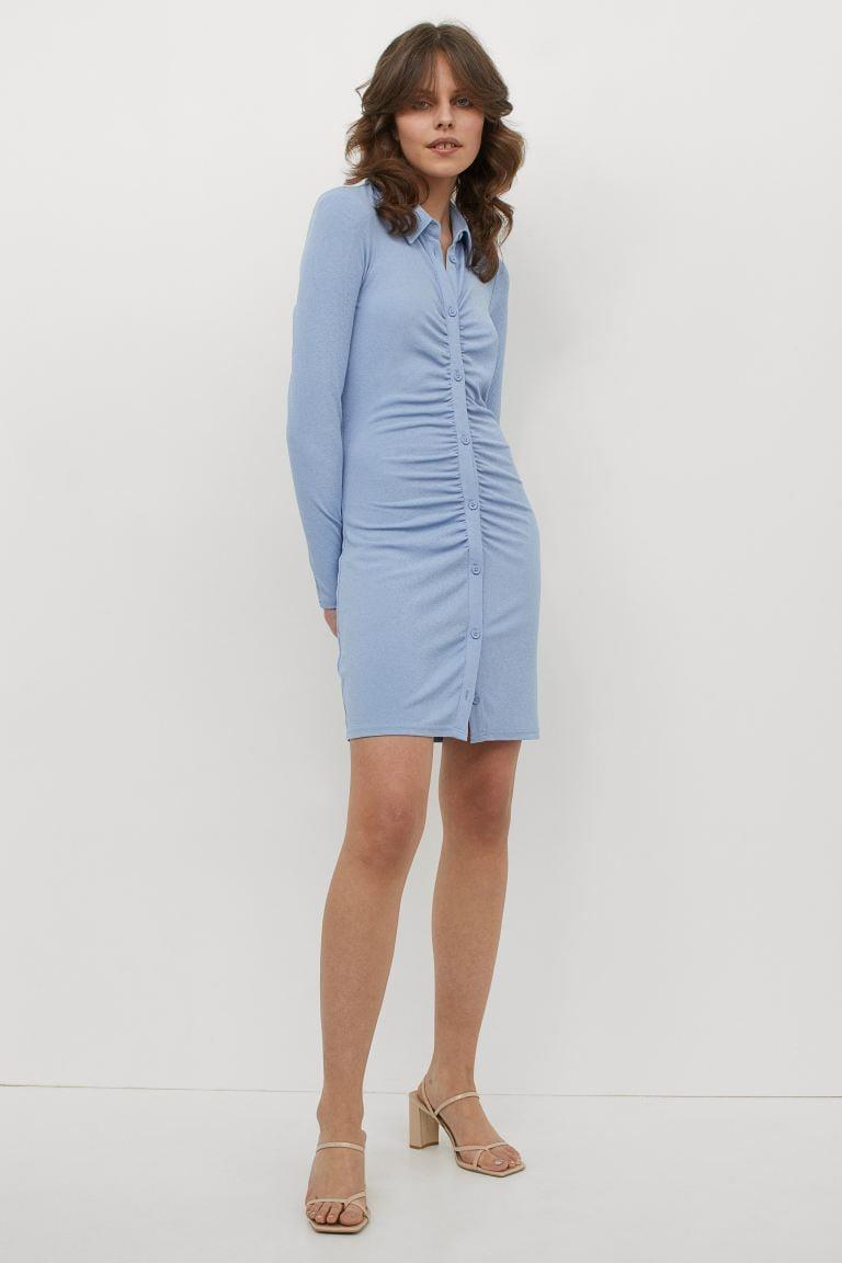 <p>We're obsessed with the color and fit of this <span>H&amp;M Jersey Shirt Dress</span> ($25). It also comes in chocolate brown, which is great for fall.</p>