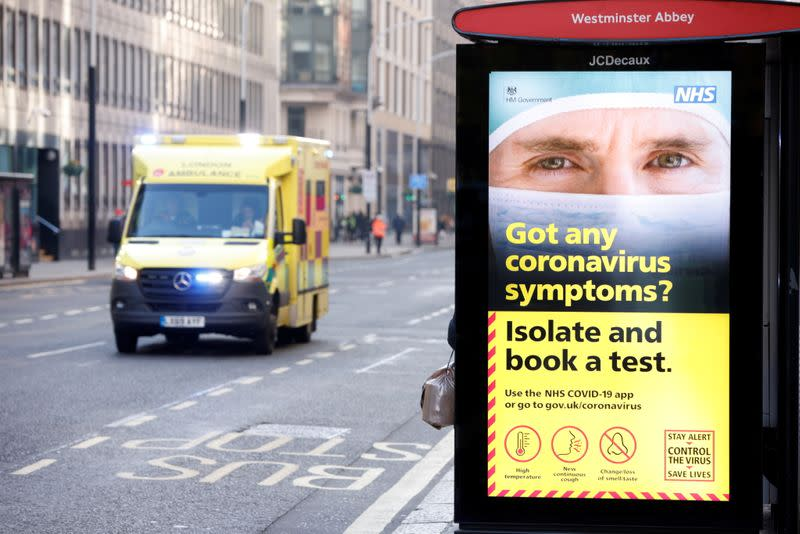 FILE PHOTO: The outbreak of the coronavirus disease (COVID-19), in London