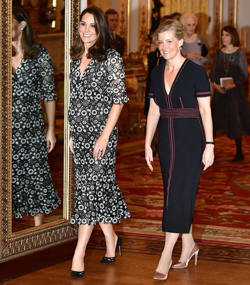 Kate Middleton and Sophie, Countess of Wessex