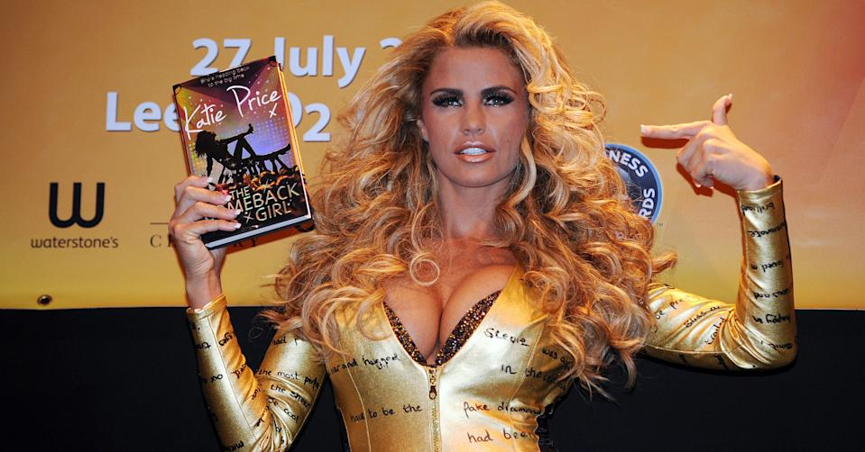 Katie Price book signing in Leeds (Credit: PA Images)