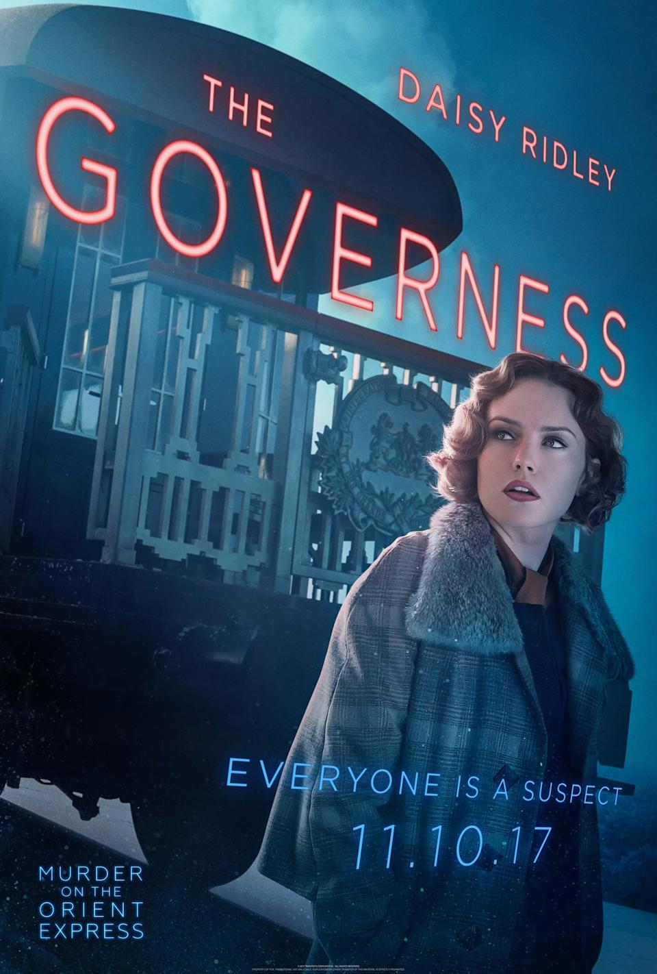 "<p>Ridley's character is independent-minded and in a relationship with Dr. Arbuthnot (played by Leslie Odom Jr.). ""She's pretty forward-thinking,"" says the actress.</p>"