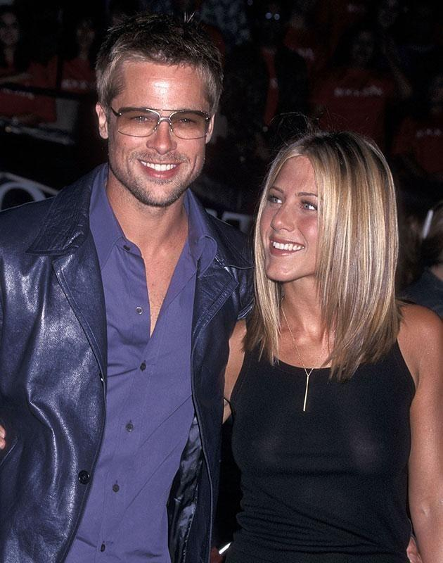 Brad Pitt and Jennifer Aniston during happier days. Source: Getty