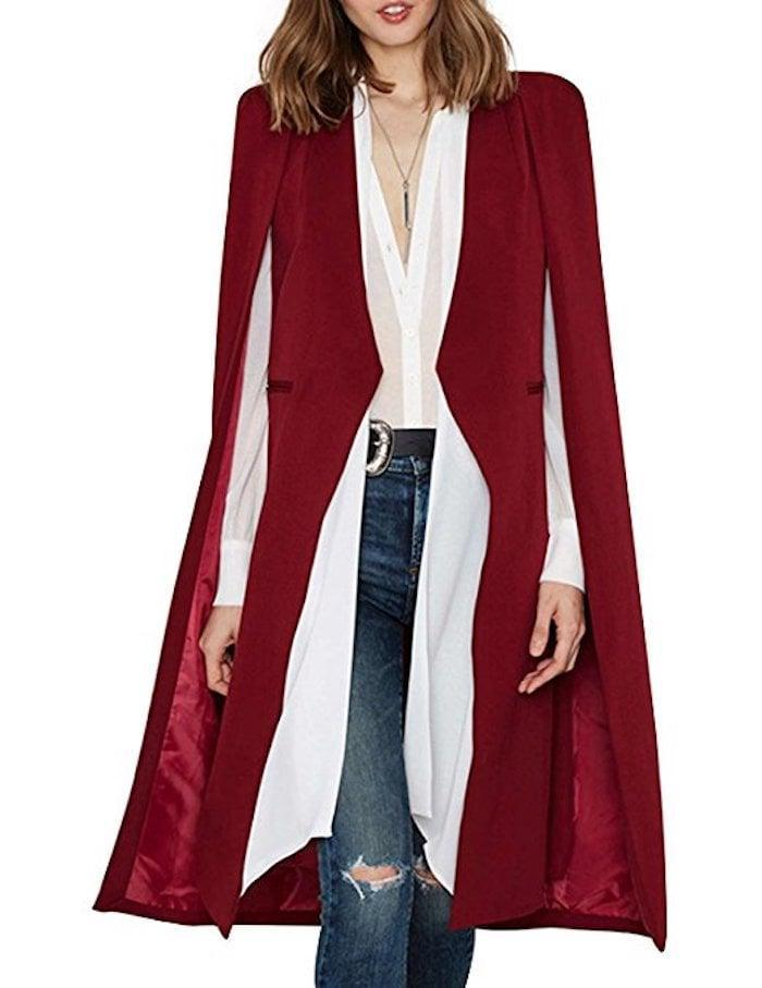 <p>Trendsetters will totally fall for this <span>Haoyihui Longline Cape Trench Coat</span> ($36). </p>