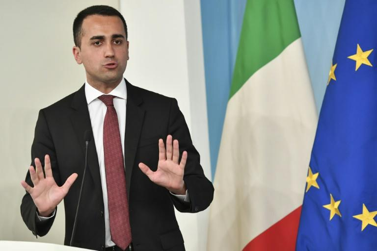 """Italy's Labor and Industry Minister and deputy PM Luigi Di Maio, pictured July 2018, wrote on Facebook that """"The decree on 'fiscal peace'...has been manipulated"""""""