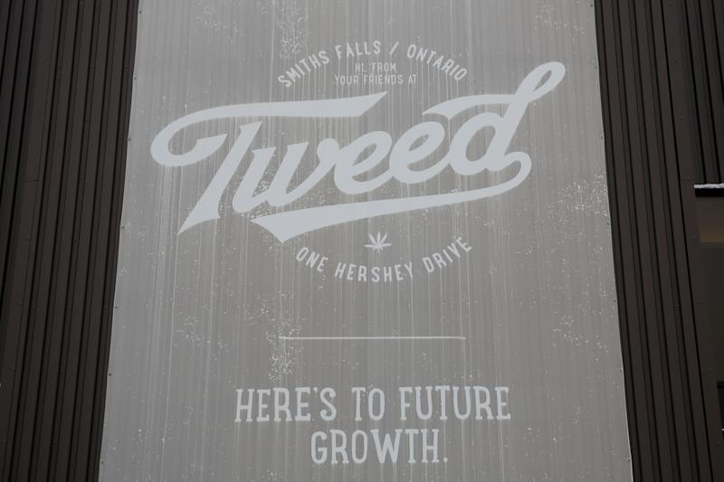 A sign for Tweed, one of Canopy Growth Corporation's brands, is pictured at their facility in Smiths Falls, Ontario, Canada, January 4, 2018. Picture taken January 4, 2018. To match Insight CANADA-MARIJUANA/INNOVATION REUTERS/Chris Wattie