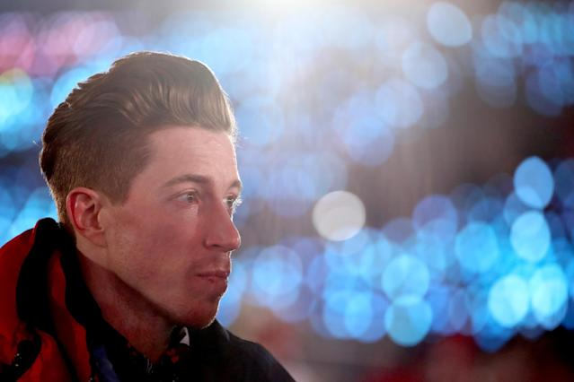 <p>Shaun White of the United States look on during the Opening Ceremony of the PyeongChang 2018 Winter Olympic Games at PyeongChang Olympic Stadium on February 9, 2018 in Pyeongchang-gun, South Korea. (Photo by Clive Mason/Getty Images) </p>