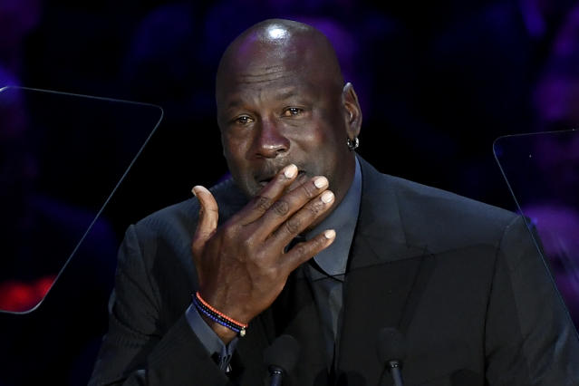 Michael Jordan made light of the 'Crying Jordan' meme. (Kevork Djansezian/Getty Images)