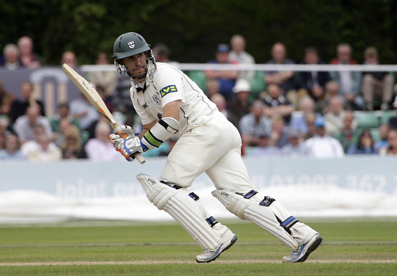Worcestershire's Daryl Mitchell bats during day two of the International Warm up match at New Road, Worcester.
