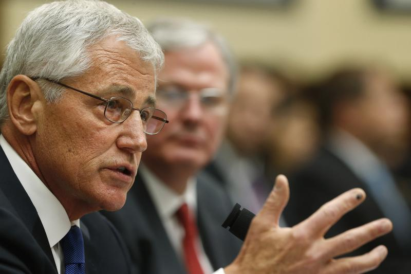 U.S. Defense Secretary Hagel testifies about the Bergdahl prisoner exchange on Capitol Hill in Washington