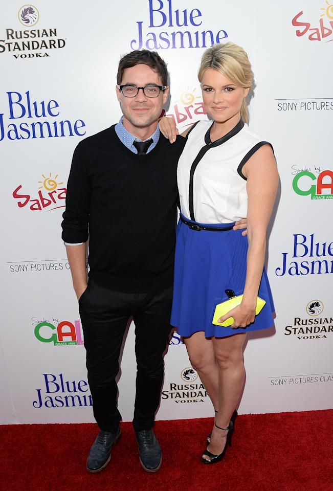 BEVERLY HILLS, CA - JULY 24: Actress Ali Fedotowsky (R) and Kevin Manno arrive at the premiere of 'Blue Jasmine' hosted by AFI & Sony Picture Classics at AMPAS Samuel Goldwyn Theater on July 24, 2013 in Beverly Hills, California. (Photo by Jason Merritt/Getty Images)