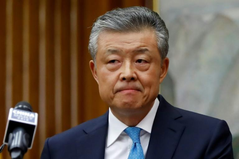 "China's ambassador to Britain Liu Xiaoming (pictured February 2020) was called into the Foreign Office to hear London's ""deep concerns"" over treaty obligations"