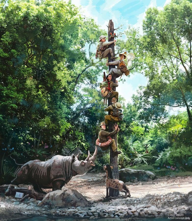 """<p>He also created a new version of the """"trapped safari"""" scene, which has doubled as an advertisement for the updated attraction.</p>"""