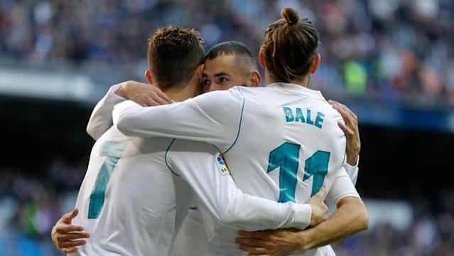 Real Madrid menang 4-0 melawan Alaves.
