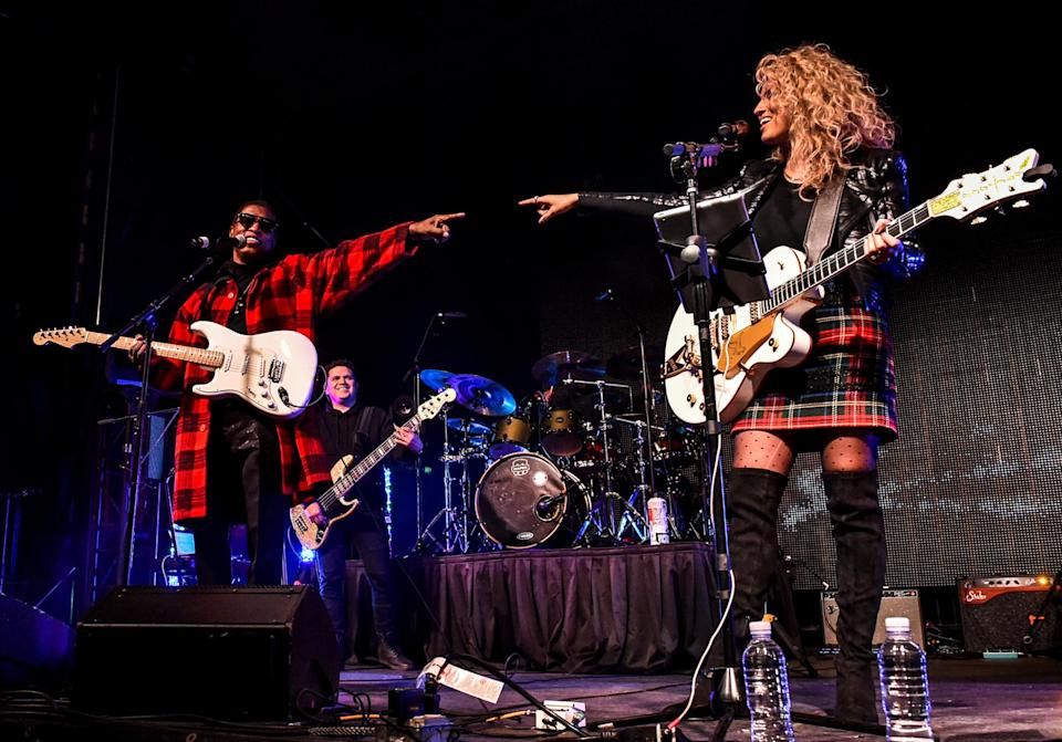 <p>Babyface and Tori Kelly perform onstage at the City National Grove of Anaheim on Monday in Anaheim, California.</p>