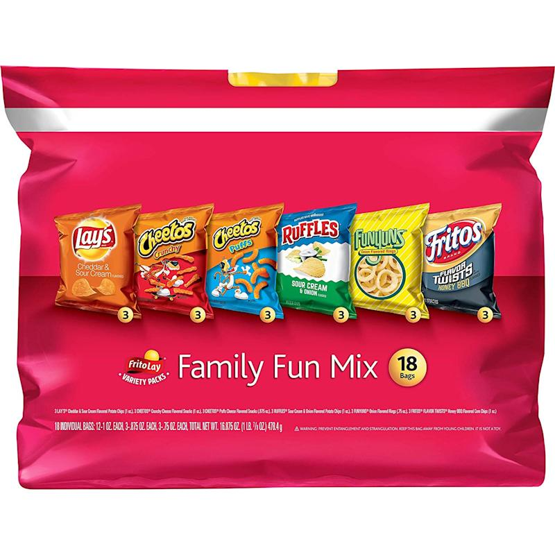 Frito-Lay Family Fun Mix Variety Pack, 18 Count (Photo: Amazon)