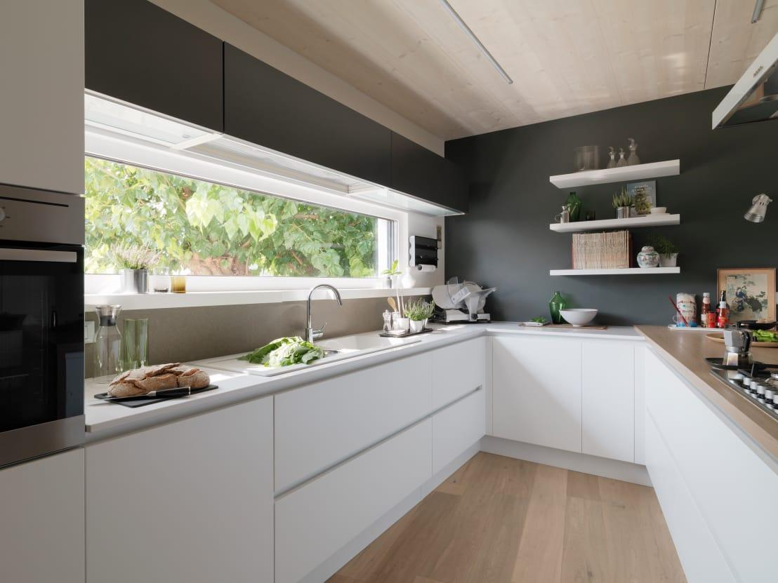 <p>Let's start with a simple task; new paint! A fresh and very different wall colour will always make an entire room look brand new and with any colour of your choosing now available in kitchen paint (which is moisture resistant), you're onto a winner!</p>  Credits: homify / DomusGaia