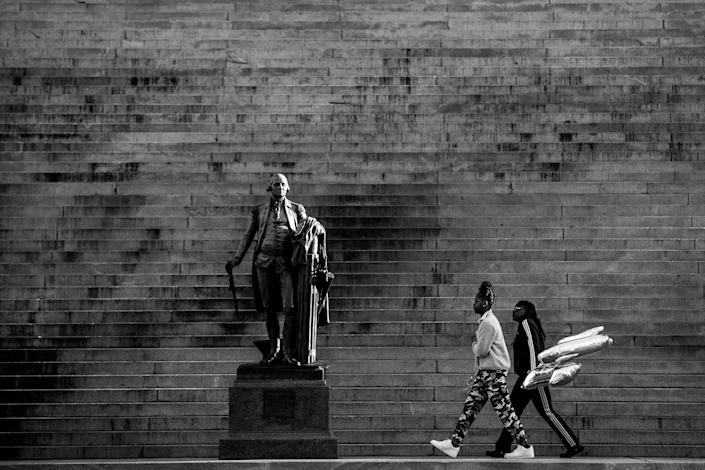 The statue of George Washington on the steps of the South Carolina Statehouse in Columbia, South Carolina.  (Photo: )