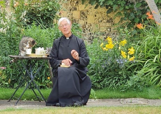 Tiger the cat previously was seen stealing milk (Canterbury Cathedral/PA)