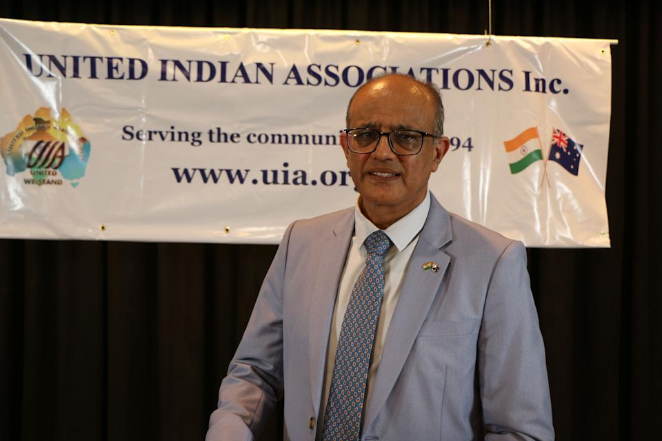 Dr Sunil Vyas, president of the United Indian Associations, said vaccination misinformation is spreading in communities. (Photo: Supplied/United Indian Associations)