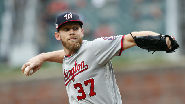 Stephen Strasburg left his start after two innings on Friday. (Associated Press)