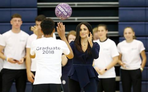 The Duchess of Sussex attends the Coach Core awards at Loughborough University - Credit: Reuters