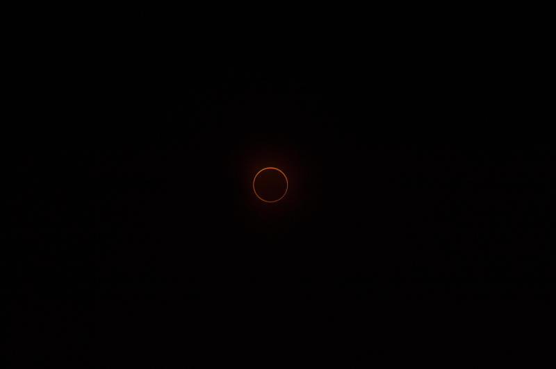 CHIAYI, TAIWAN - 2020/06/21: The annular Solar Eclipse seen in Chiayi, started from 14:48 until 17:25. The last time a solar eclipse was seen, was in 1941 and the next time will be in 2215 A.D. (Photo by Lin Yen Ting/SOPA Images/LightRocket via Getty Images)