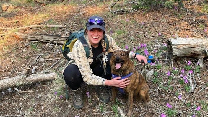 Kelsey Sims and her dog, Roo