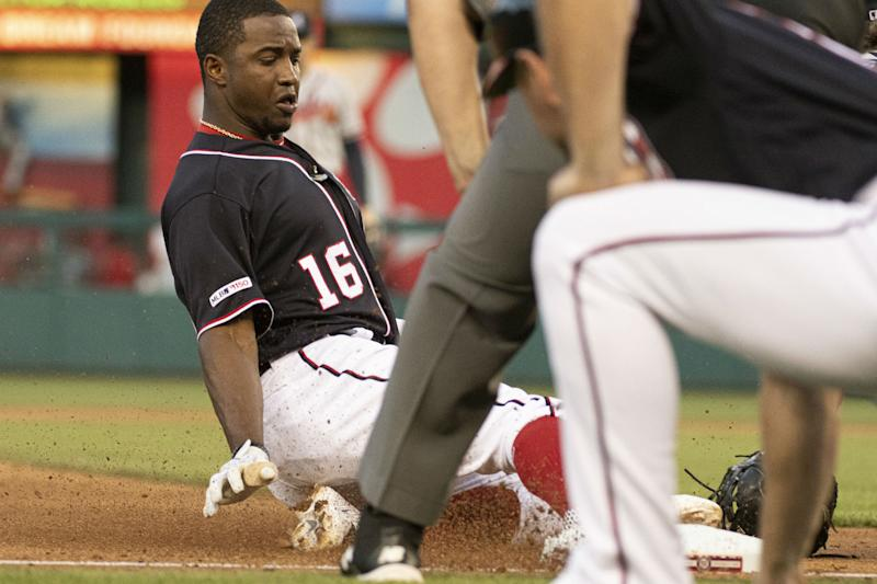 low priced b672b 105ab Victor Robles leaves Nationals game early