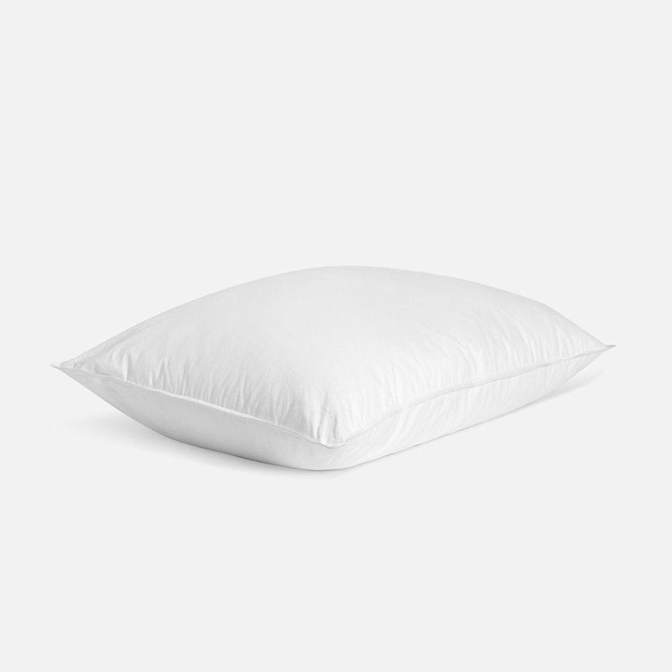 """<p><strong>Brooklinen</strong></p><p>brooklinen.com</p><p><a href=""""https://go.redirectingat.com?id=74968X1596630&url=https%3A%2F%2Fwww.brooklinen.com%2Fproducts%2Fdown-pillow&sref=https%3A%2F%2Fwww.housebeautiful.com%2Fshopping%2Fbest-stores%2Fg35154173%2Fbrooklinen-surprise-sale-january-2021%2F"""" rel=""""nofollow noopener"""" target=""""_blank"""" data-ylk=""""slk:Shop Now"""" class=""""link rapid-noclick-resp"""">Shop Now</a></p><p><strong><del>$69 — $89</del> $58.65 —$75.65 (15% off)</strong></p><p>Elevate your sleep routine with a fresh pillow. This down option is available in three firmness levels, so you can find the perfect one for your needs.</p>"""