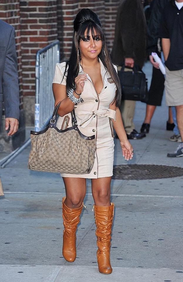 """Snooki and her Bumpit strike again! James Devaney/<a href=""""http://www.wireimage.com"""" target=""""new"""">WireImage.com</a> - September 21, 2010"""