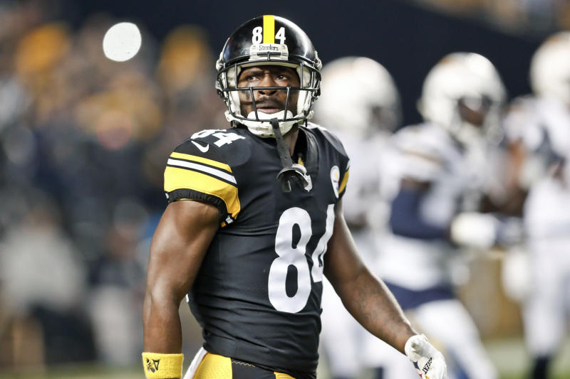 Antonio Brown posted a picture after a meeting with him and Steelers owner Art Rooney II. (AP)