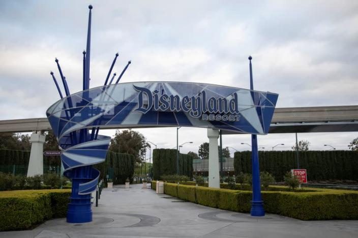FILE PHOTO: Walt Disney Co's Disneyland and California Adventure theme parks in Southern California are now closed due to the global outbreak of coronavirus in Anaheim, California