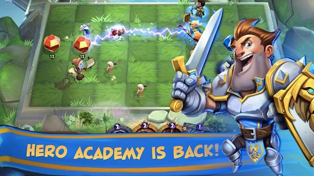 'Hero Academy' pairs the collectibility features of games like 'Hearthstone' with tactical board game mechanics.