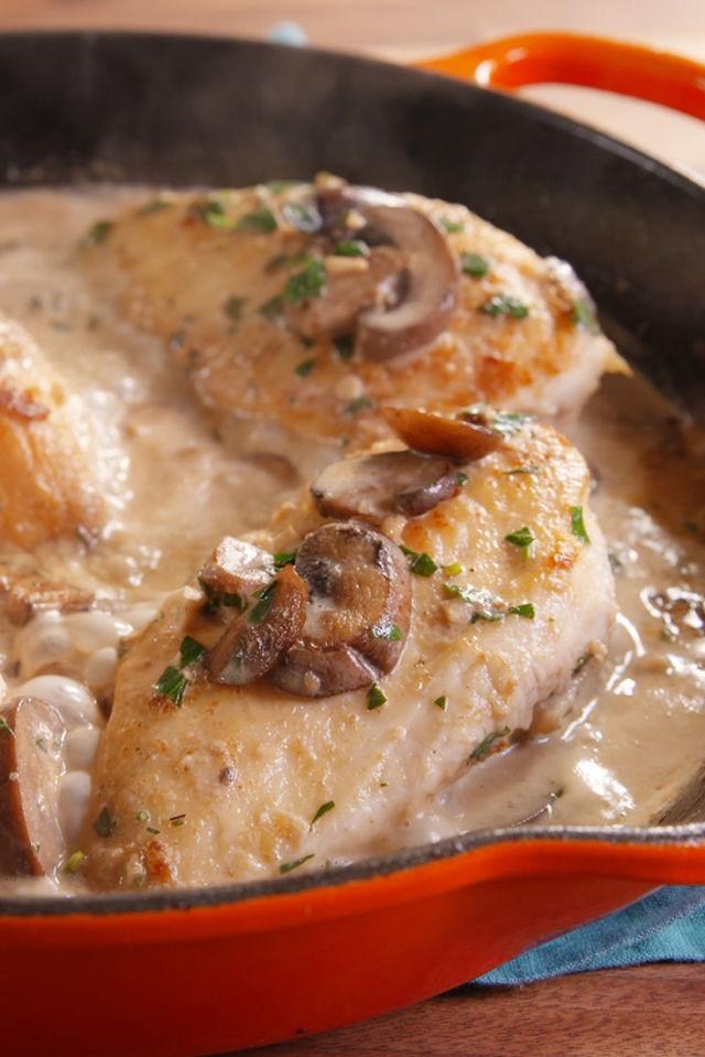 """<p>This homemade Marsala is better than anything you'll get at a restaurant. Trust.</p><p>Get the recipe from <a rel=""""nofollow"""" href=""""http://www.delish.com/cooking/recipe-ideas/recipes/a49576/creamy-chicken-marsala-recipe/"""">Delish</a>.</p>"""