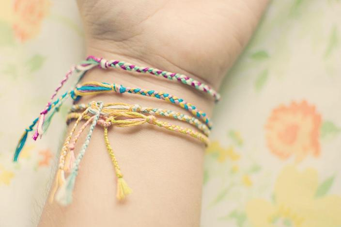 <p>Your friendship wasn't legit if you didn't have a friendship bracelet on your wrist. And, once it rotted off, you'd better believe you scored another one.</p>