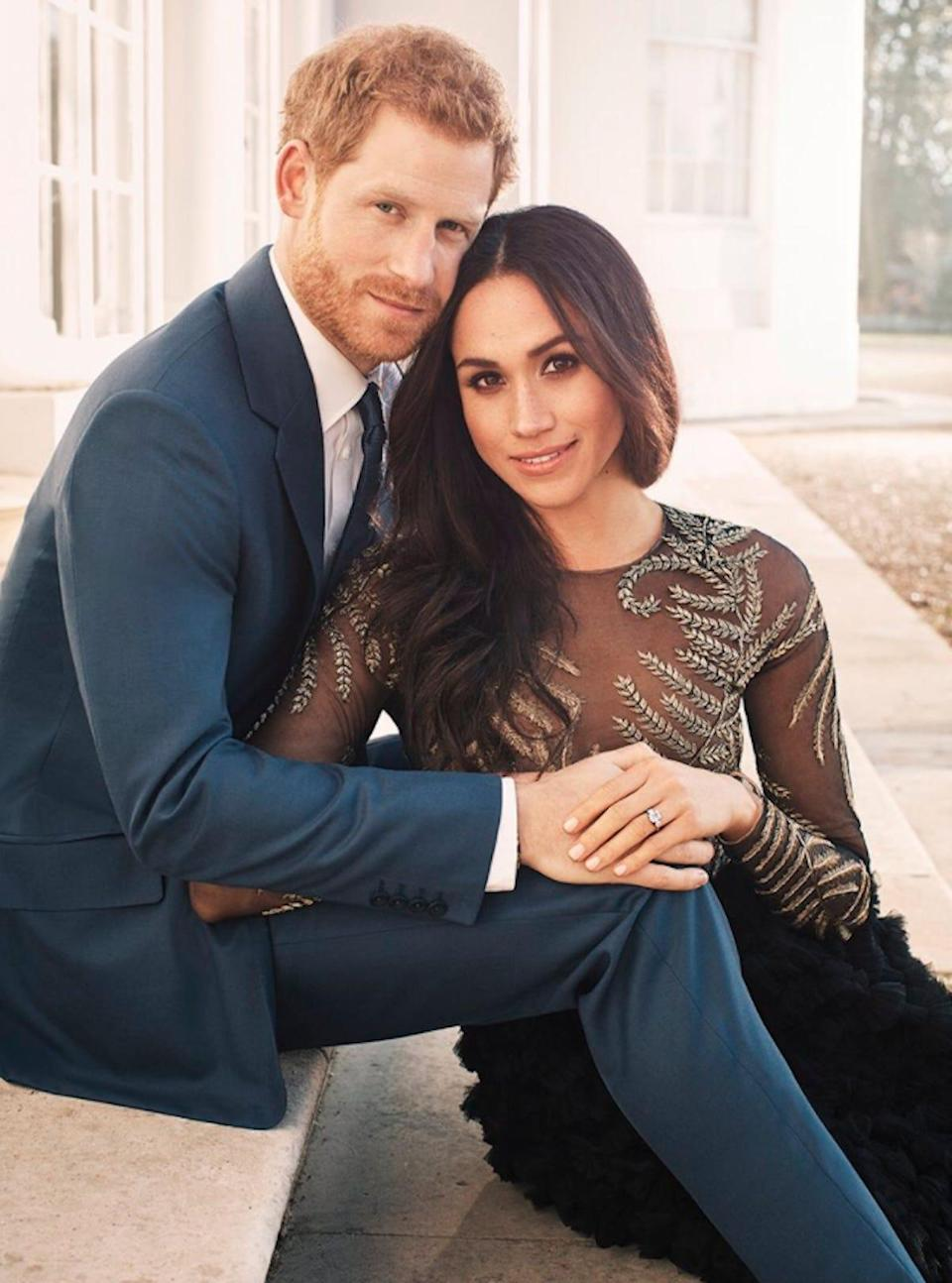 meghan markle prince harry official engagement photo