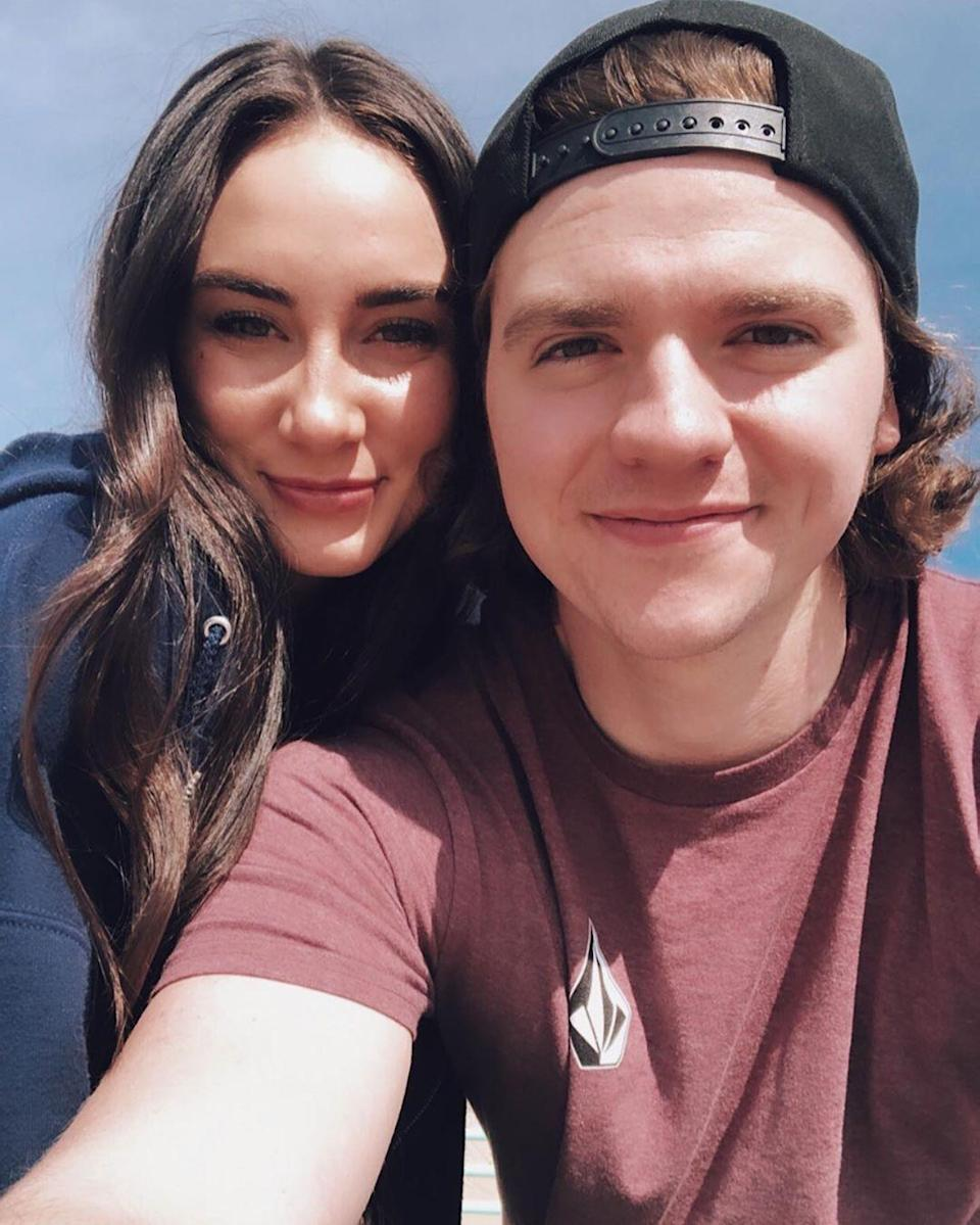 """<em>The</em> <em>Kissing Booth</em>'s Joel Courtney and Mia Scholink (whom he's known since they were little kids) tied the knot in Phoenix on September 27. """"I am just so thrilled to be married,"""" he <a href=""""https://people.com/tv/the-kissing-booths-joel-courtney-and-mia-scholink-are-married-first-photos/"""" rel=""""nofollow noopener"""" target=""""_blank"""" data-ylk=""""slk:told People"""" class=""""link rapid-noclick-resp"""">told <em>People</em></a>. """"It's one of those things where as much planning and as much anticipation goes into the day, I'm so excited to be married to my best friend."""""""