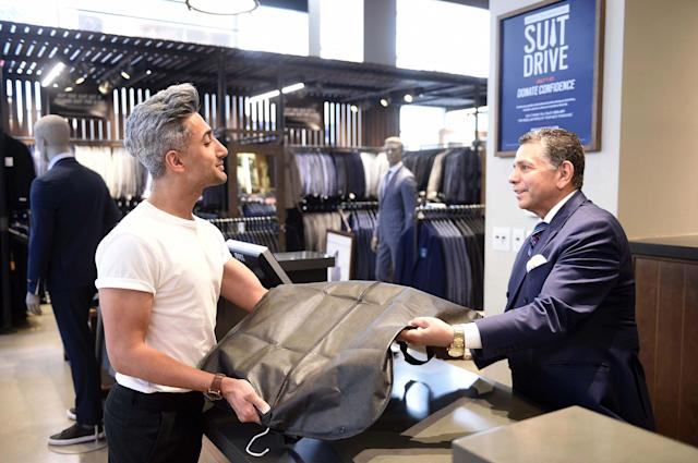Tan France has teamed with Men's Wearhouse for its annual drive to collect suits for charity. (Photo: Men's Warehouse)