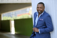 "Petri Hawkins Byrd, bailiff on the reality court television program ""Judge Judy,"" poses for portrait, Friday, Sept. 25, 2020, in Los Angeles. (AP Photo/Chris Pizzello)"