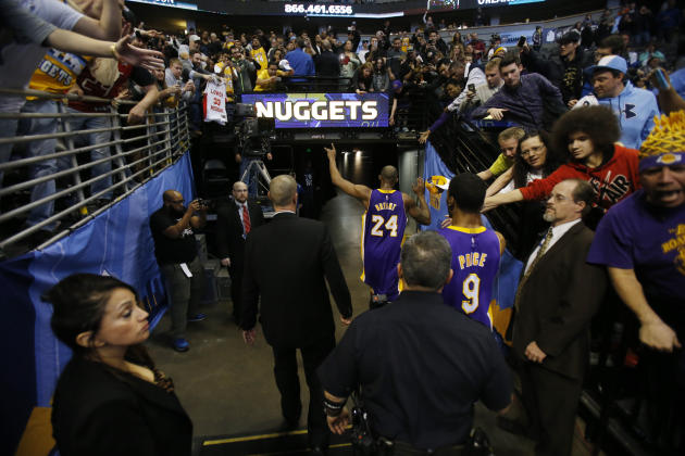 ea85d5784b0 Kobe Bryant exits. (Chris Humphreys-USA TODAY Sports)