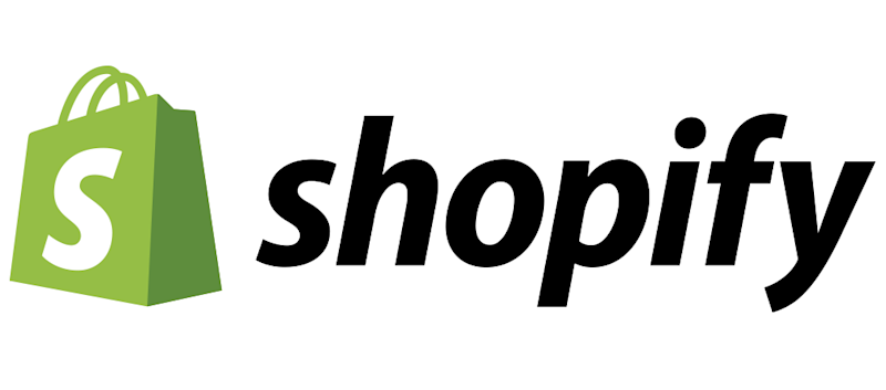 Shopify logo of green bag with white S.